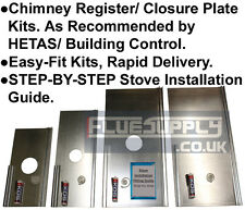"""Register Closure Plate Kit For Chimney Stove Installations Steel 4, 5, 6, 7"""""""