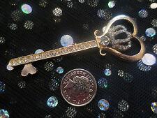 Gold Alloy Flat Back Key Cabochon Rhinestone 3D Phone Case Decoration DIY Craft
