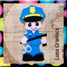POLICEMAN Embellishment card toppers and scrapbooking