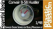 1:48 B-58 Hustler seamless engine intakes for Monogram Revell