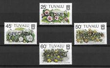 Tuvalu 1984 Beach Flowers MNH Specimen set S.G. 249-252