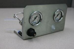 SMC Dual 30PSI 4K8 2.5P Pressure Gauge Module from Ultima Mass Spectrometer