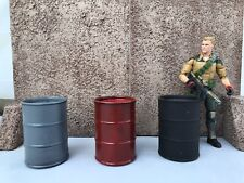 1/12 scale accessories: Oil Drums G.I. Joe Marvel Legends Neca Mezco