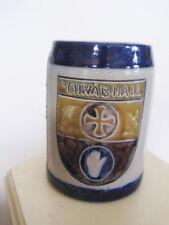 Vintage SCHWAB HALL Germany Signed Beer Stein Silver Shield Coat of Arms