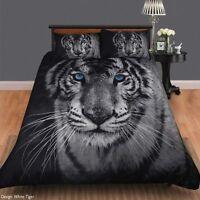 White Tiger Duvet | Doona Quilt Cover Set | Animal Print | Single