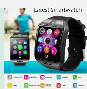 BLACK Colour Apro Q18 Smart Watch Bluetooth /TF/Camera /MP3 /SIM For iOS Android
