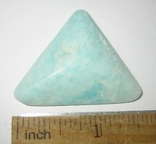 "1.6"" TUMBLED NATURAL AMAZONITE FELDSPAR CRYSTAL STONE FROM CANADA 12.1 GRAMS *5"