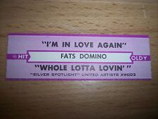 """1 Fats Domino I'm In Love Again Jukebox Title Strips CD 7"""" 45RPM Records"""