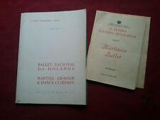 VINTAGE 1967 HOLAND NACIONAL BALLET / MARTHA GRAHAM PORTUGAL SOUVENIR BROCHURE