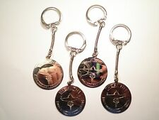 4 Sillver Plated Nursing The Noblest Profession Key Chains