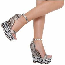 NEW WOMEN LADIES ANKLE STRAP HIGH HEEL PEEPTOE PLATFORM SANDALS SIZES 3-8