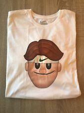 Men's Nike Wimbledon Roger Federer Emoji Face Tennis T-Shirt NWT $35 Size XL