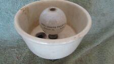 Vintage Antique Haws Porcelain Brass Water Drinking Fountain Bubbler Barn Fresh