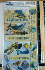 Paper House AQUARIUM Stickers DOLPHINS TURTLES SO MUCH MORE