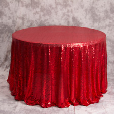 Red Glitter Sequin Tablecloth Engagement Birthday Party Wedding Cake Table Decor
