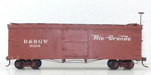 Sn3 Narrow Gauge #3065 D&RGW Rio Grande BOX CAR Camel Door Version ~ T132A