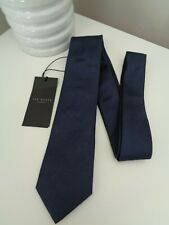 TED BAKER Rotele Navy Blue Woven Silk Tie  7cm