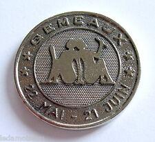 Médaille horoscope GEMEAUX, 22 MAI-21 JUIN, avec poinçon sur la tranche.
