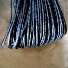 5 mètres de Fil Coton Ciré  GRIS FONCE  -  Epaisseur 1 mm