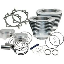 S&S CYCLE 107″ BIG BORE KIT 910-0480 IN SILVER FOR HARLEY 2007-2017 TWIN CAM