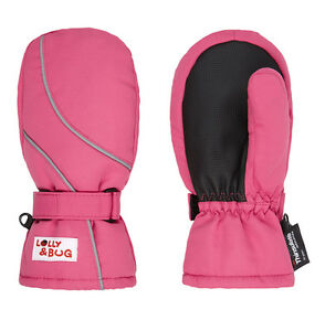 waterproof and warm pink mittens 4-6 years