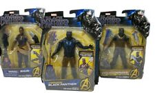 Black Panther Marvel Action Figure Lot Of 3 With Special Vibranium Black Panther