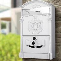 Cassetta Postale Parete Alluminio Buca Lettere Posta Esterno con Chiave Grigio