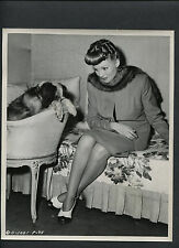RITA HAYWORTH WITH A DOG CANDID BY GILLUM - 1945 TONIGHT AND EVERY NIGHT - WWII