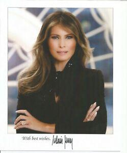 8x10 pre-printed, signed photo Melania Trump!