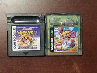 Game Boy Color Wario land 2 3 Japan GameBoy GBC game US Seller