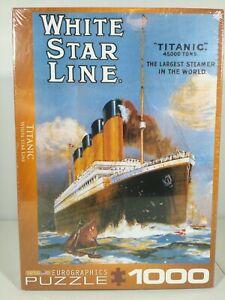 Eurographics TITANIC 1000 Pieces USA Jigsaw Puzzle New / Sealed White Star Line