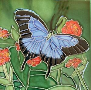 Butterfly Decorative Ceramic Wall Art Tile 4x4 New