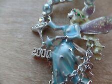 Kirk's Folly Necklace Fairy Champagne Bubbles Pendant  Pin Silver Tone RARE