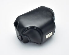 Genuine Black Leather Canon Powershot Eveready Camera Case (#T498)