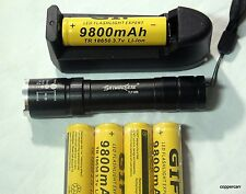 WORLDS MOST POWERFUL SMALLEST FLASHLIGHT, 2 BATTERY, CHARGER DEAL SELF DEFENCE !