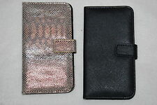 CELL PHONE WALLET CASE Samsung Galaxy S4 LOT Black & Shiney Mock Snakeskin