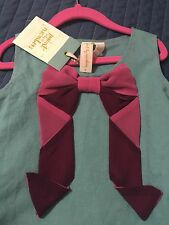 Matilda Jane Paint By Numbers All Wrapped Up Bow Dress Linen Tween 8 Girls NWT