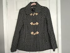 Atmosphere Women's Black Mix Faux Wool Duffle Coat Size 8