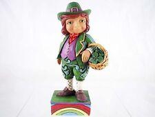Lucky Leprechaun w/ Basket Mini Figurine - Jim Shore Heartwood Creek - Resin