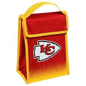 """Kansas City Chiefs Insulated Lunch Bag Box Cooler Gradient Logo 9"""" x 7"""" x 4.5"""""""