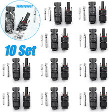 10Pairs Male Female M/F Wire Cable Connector Adapter Set For Mc4 Solar Panel 30A
