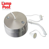Bathroom Switch Brushed Chrome Stainless Steel Pull Cord / Pull Light Switch