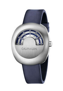 Calvin Klein Glimpse K9M311VN Stainless Steel Case Blue & Silver Dial Swiss Made