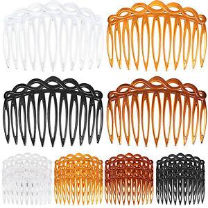 4PCS Hair Slides Combs Straight Teeth Hair Clip Bridal Wedding Accessories 7cm