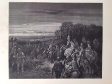 Gustave Dore 1872 Antique Print, Hampstead Heath, London, England