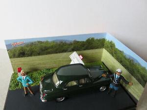 "Simca aronde, route bleue N7, étape 50  ""l' accrochage""+ figurines."