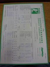 28/04/1994 Cricket Scorecard: Leicestershire v Northamptonshire (Folded, Written