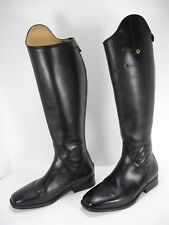 SERGIO GRASSO 12545 SANREMO BLACK LEATHER EQUESTRIAN RIDING BOOTS WOMEN'S 38