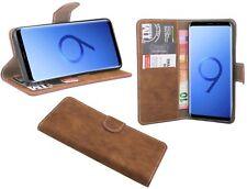Zubehör Brief Tasche-Form Etui Hülle für Samsung Galaxy S9 PLUS G965F in Braun