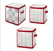 Christmas Ornament Ball Plastic Container Organizer Storage Box - 64 Ornaments